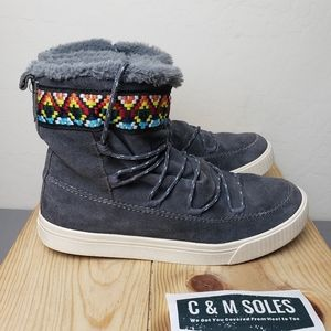 TOMS Alpine Iron Forged Grey Ankle Winter Boots